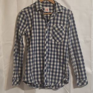 Lacoste Live! men's checked button up shirt
